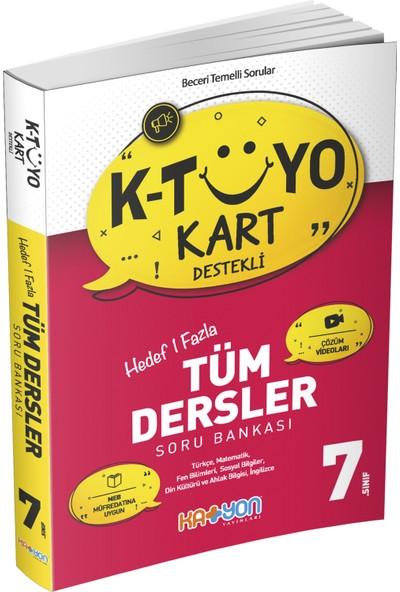 Katyon Yayınları 7. Sınıf K - Tuyo Kart Destekli - Tüm Dersler Soru Bankası