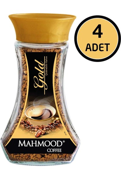 Mahmood Coffee Gold Cam Kavanoz 100 gr x 4'lü