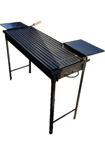 Iklim Demir Mangal Barbekü Oluklu Izgara Sehpalı 40 x 100 cm
