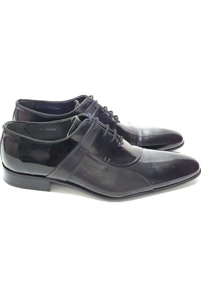 King West Deri Erkek Klasik Ayakkabı - Siyah - 43