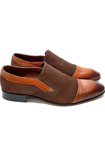 King West Deri Erkek Klasik Ayakkabı - Kahverengi - 41