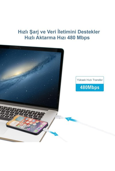 Eldest Concord USB Type-C To Lightning 3A Hızlı Pd iphone Ipad Şarj Aleti Kablosu