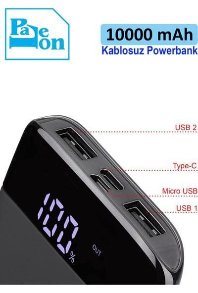 Doruchtech Paleon -WP10 10000 Mah Wireless Kablosuz Hızlı Şarj Powerbank Type-C
