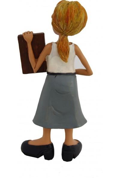 Hediye Sahibi Dekoratif Kadın Öğretmen Biblo