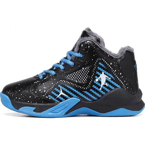 Sitong Dağ Tepe Deseni Siyah Mavi Basketbol Ayakkabı (Yurt Dışından)