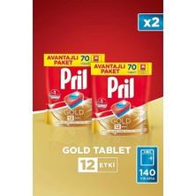Pril ADW Gold 140 Yıkama Bulaşık Makinesi Deterjanı Tableti (2 x 70'li Paket)