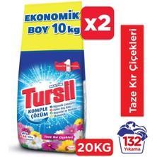 Tursil Toz Çamaşır Deterjanı 2 x 10kg (132 Yıkama) Kırçiçekleri