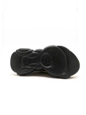 White Line Hardal Renk Platin Detaylı Kalın Taban Kadın Spor Ayakkabı