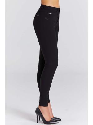 Guıtar Kadın 21758-H Siyah Pantolon