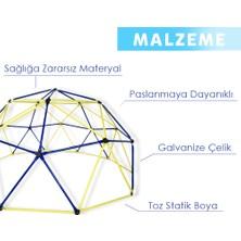 Game Domes Sarı Kırmızı 150 cm Game Domes Oyun ve Tırmanma Alanı Bahçe Oyuncağı