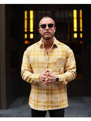 Marrakech Hardal Sarısı Ekoseli Oduncu Gömlek