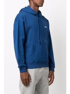 Levi's Erkek Mavi Kapüşonlu Sweatshirt - A07470012
