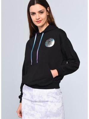 ECKO UNLTD Kapüşonlu Regular Fit Siyah Kadın Sweatshirt