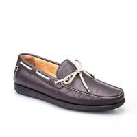 Cabani Marin Tekne Günlük Erkek Ayakkabı Kahve Kırma Deri