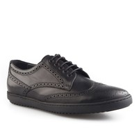 Cabani Bağcıklı Günlük Erkek Ayakkabı Siyah Analin Deri