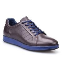Cabani Bağcıklı Spor Günlük Erkek Ayakkabı Kahve Kırma Deri