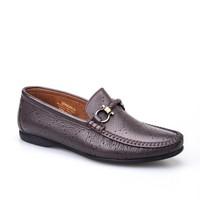 Cabani Lazerli Günlük Erkek Ayakkabı Kahve Kırma Deri