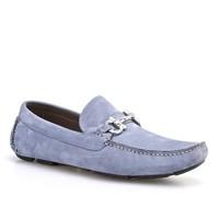 Cabani Tokalı Günlük Erkek Ayakkabı Mavi Nubuk