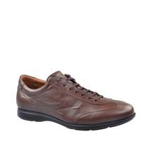 Cabani Bağcıklı Günlük Erkek Ayakkabı Kahve Nata Deri
