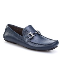 Cabani Tokalı Günlük Erkek Ayakkabı Lacivert Kırma Deri