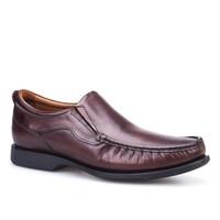 Cabani Bağcıksız Günlük Erkek Ayakkabı Kahve Sanetta Deri