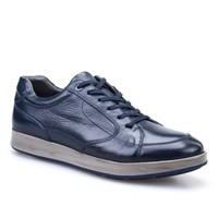 Cabani Bağcıklı Spor Günlük Erkek Ayakkabı Lacivert Deri
