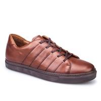 Cabani Dikişli Günlük Erkek Ayakkabı Taba Deri