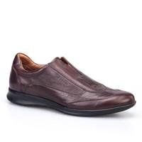 Cabani Bağcıksız Günlük Erkek Ayakkabı Kahverengi Deri