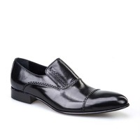Cabani Erkek Ayakkabı Siyah Buffalo Deri