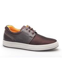 Cabani Bağcıklı Günlük Erkek Ayakkabı Kahverengi Kırma Deri