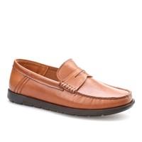 Cabani Kemerli Günlük Erkek Ayakkabı Taba Kırma Deri
