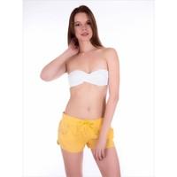 Ayyıldız 67803 Sarı Kısa Kadın Şort