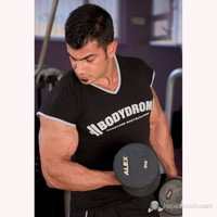 Bodydrom 004-01-Bdt Düşük Kol Siyah T-Shirt