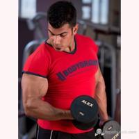 Bodydrom 004-05-Bdt Düşük Kol Kırmızı T-Shirt