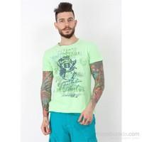 Cazador Erkek Yeşil Bisiklet Yaka T-Shirt