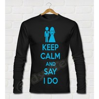 Dyetee Keep Calm Wedding Bayan T-Shirt