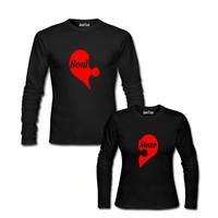 Dyetee Soul Mate Kalpler İkiz T-Shirt