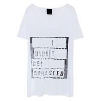 Lot 78 'I Didn't Get Arrested' Boyfriend T-Shirt