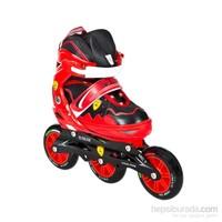 Büyük Tekerlekli Yarış Pateni Kırmızı