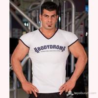 Bodydrom 004-02-Bdt Düşük Kol Beyaz T-Shirt