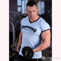 Bodydrom 004-08-Bdt Düşük Kol Mavi T-Shirt