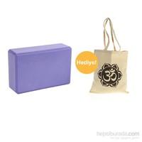 Yoga Mor Blok Köpük + OM Baskılı Çanta
