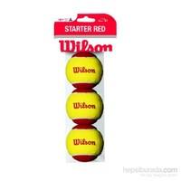 Wilson Wrt137001 Starter Easy Itf Onaylı 3 Lü Tenis Antrenman Topu Kırmızı