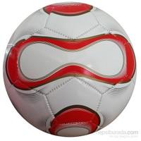 Cosfer Beyaz Kırmızı Futbol Topu Dikişli Model No:5