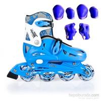 Cosfer Roller Blade Tekerlekli Paten Kırmızı Pilastik & Koruyucu set