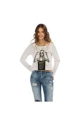 Colin's Beyaz Kadın Sweatshirt