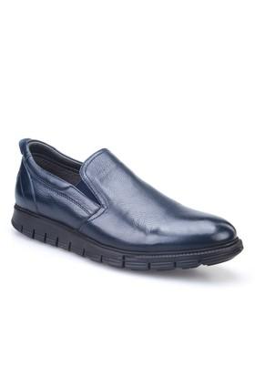 Cabani Lastikli Günlük Erkek Ayakkabı Lacivert Kırma Deri