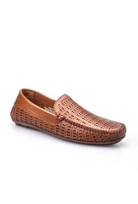 Cabani Lazerli Makosen Günlük Erkek Ayakkabı Yeşil Keten