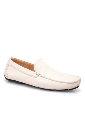 Cabani Makosen Günlük Erkek Ayakkabı Bej Kırma Deri