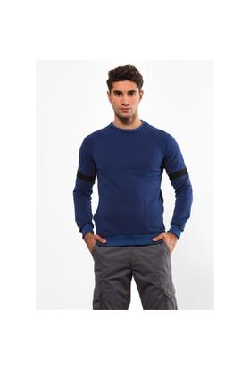 Adze İndigo Erkek 2 İplik Sweatshirt
